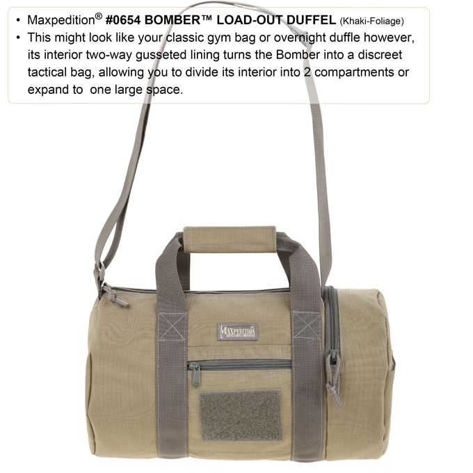 Плечевая сумка Maxpedition Bomber™ Load-Out Duffel